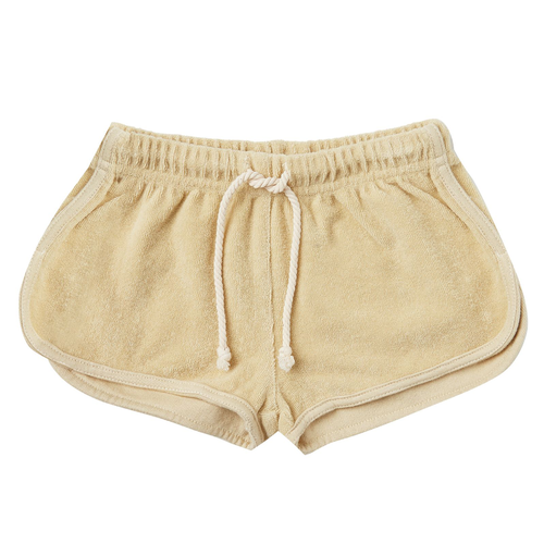 Rylee & Cru Terry Track Short, Butter