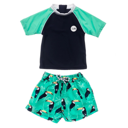 Rashguard & Shorts Set, Toucan Talk