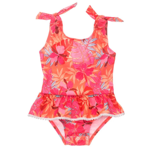 Tropical Punch Skirt Swimsuit