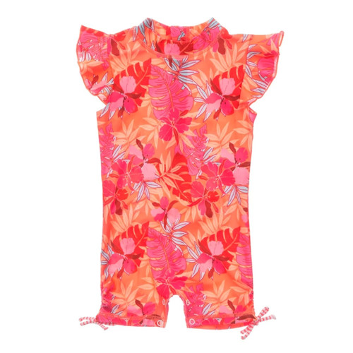 Tropical Punch Flutter Sleeve Surf Suit