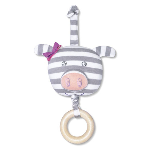Organic Waggle Toy, Penny Pig