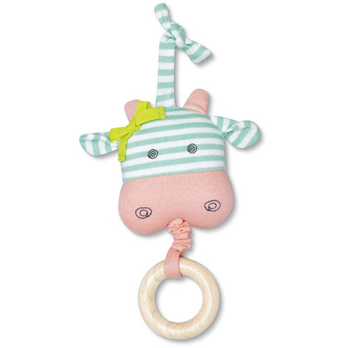 Organic Waggle Toy, Belle Cow
