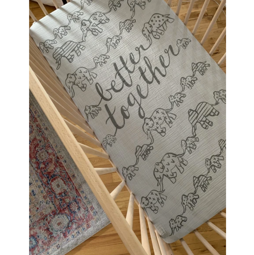 Organic Cotton Crib Sheet, Better Together