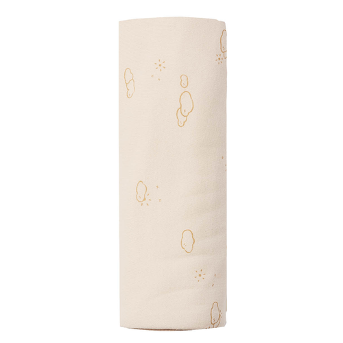 Organic Cotton Swaddle, Natural Sunny Day