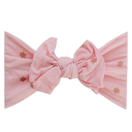 Classic Knot Bow, Pink Stars