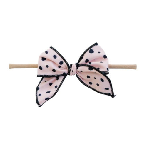 Skinny Edged Bow, Polka Dot