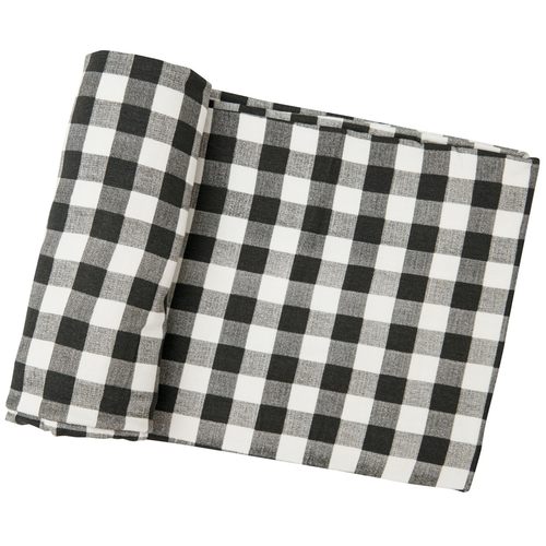 Bamboo Swaddle, Black Gingham