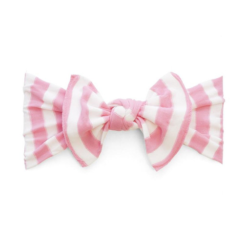 Knot Bow, Pink Stripe
