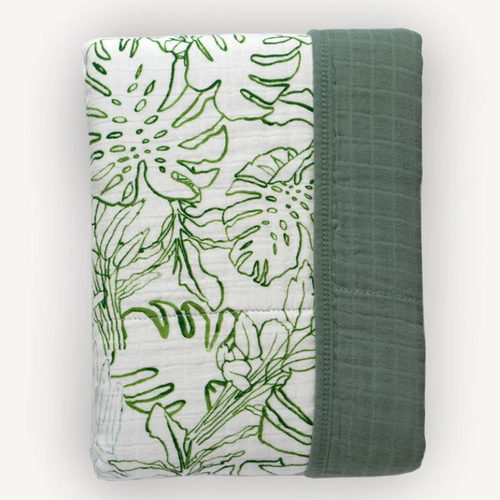 Muslin Quilt, Jungle Leaf