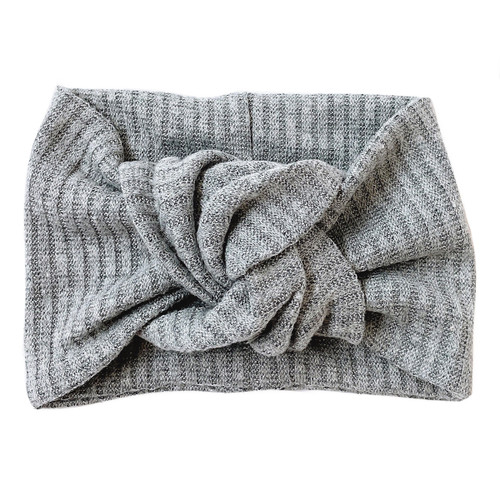 Twist Knot Headband, Gris