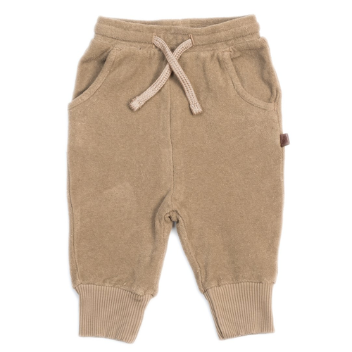 Organic Terry Joggers, Fawn