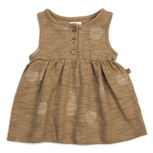 Organic Tank Dress, Apple Pear
