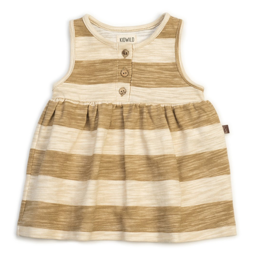 Organic Tank Dress, Honey Stripe
