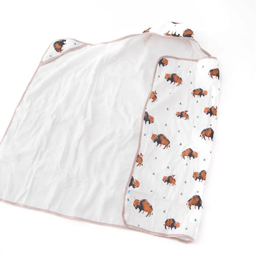 Big Kid Hooded Towel, Bison