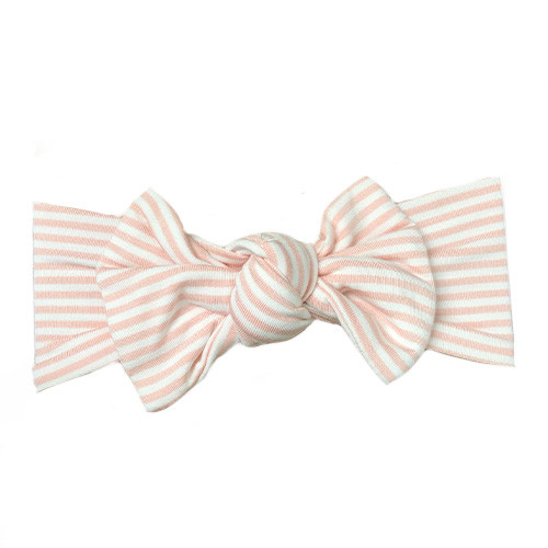 Knot Headband, Pink Stripes
