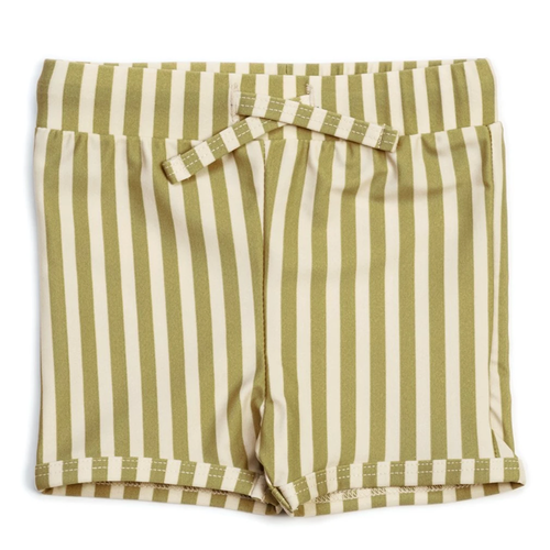 Swim Trunks, Stripe Olive