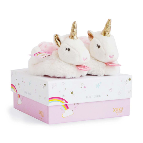 Lucie the Unicorn Baby Rattle Slippers