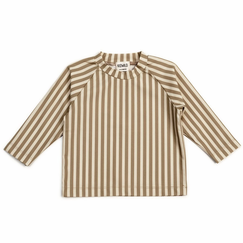 Swim Tee, Brick Stripe