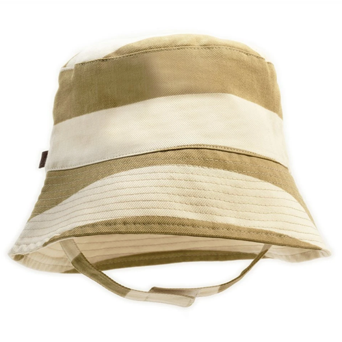 Organic Bucket Hat, Olive Stripe