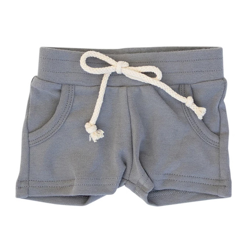 Cotton Pocket Shorts, Slate
