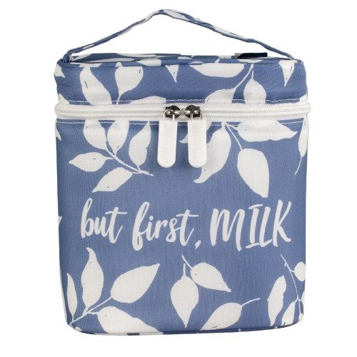 Boho Insulated Bottle Bag, But First, Milk