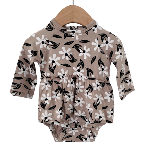 Long Sleeve Skirted Bodysuit, Clay Floral