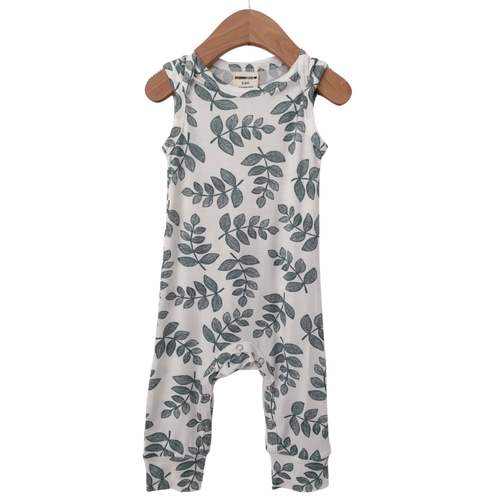 Sleeveless Romper, Sage Fern