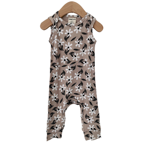 Sleeveless Romper, Clay Floral