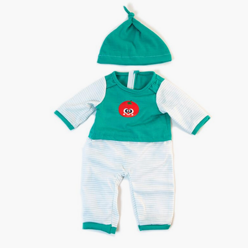 Cold Weather Green Pajamas for Miniland Doll