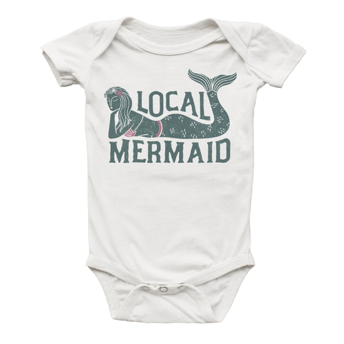 Graphic Bodysuit, Local Mermaid
