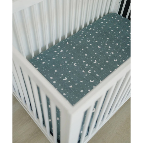 Muslin Crib Sheet, Night Sky