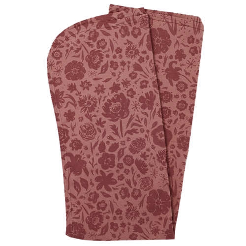 Organic Swaddle Blanket, What in the Carnation Mauve