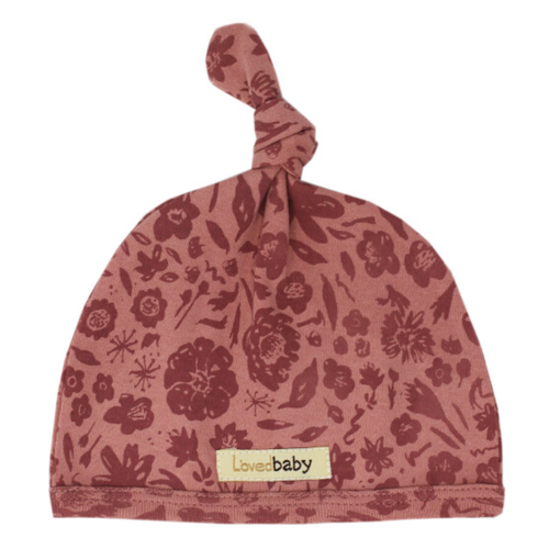 Organic Knotted Hat, What In Carnation Mauve