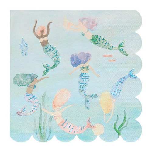 Mermaids Swimming Paper Napkins