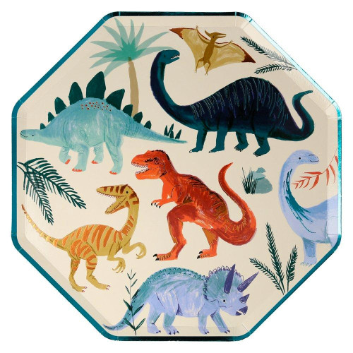 Dinosaur Kingdom Dinner Size Party Plates