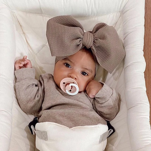 Bow Headwrap, Taupe