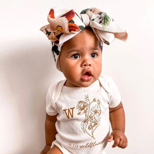 Bow Headwrap, French Floral