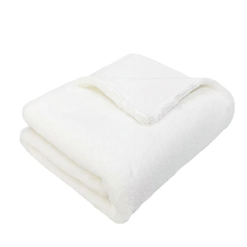 Luxe Faux Fur Baby Blanket, White