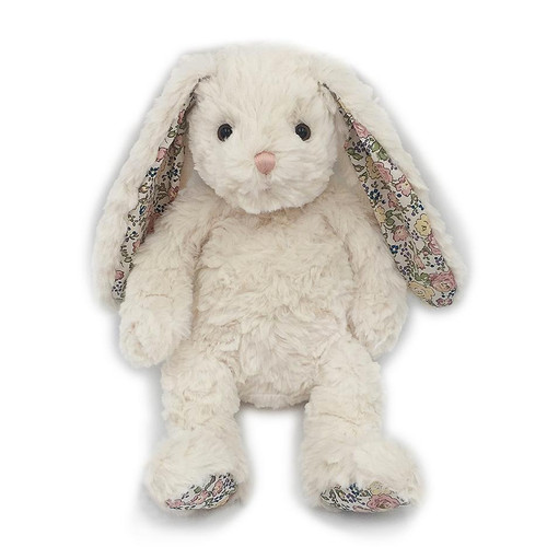 Faith Cream Floral Bunny Plush Toy