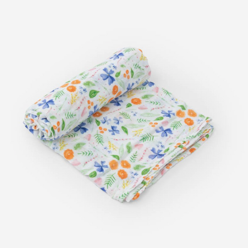 Muslin Swaddle, Mountain Bloom