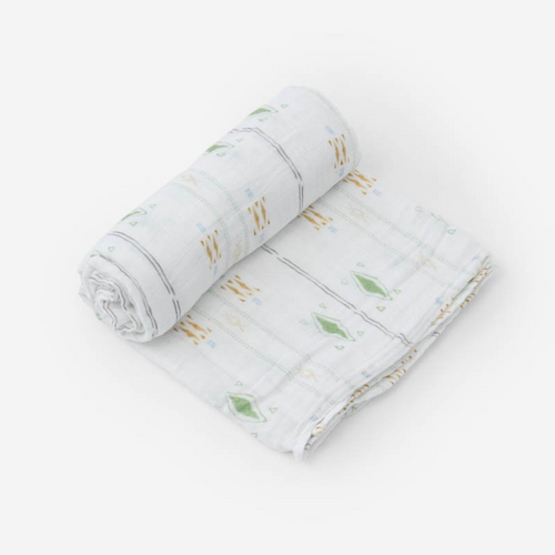 Muslin Swaddle, Diamond Stripe