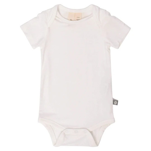 Short Sleeve Bamboo Bodysuit, Cloud