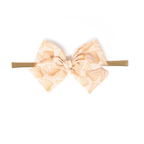 Nylon Headband Bow, Beachy