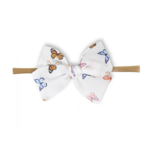 Nylon Headband Bow, Butterflies