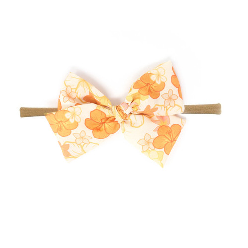 Nylon Headband Bow, Hawaiian