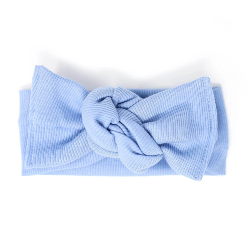 Headwrap Bow, Jet Blue