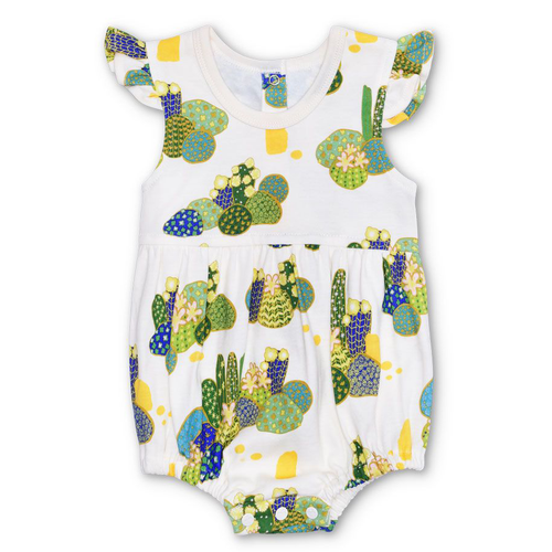 Organic Flutter Sleeve Sunsuit, Joshua Tree