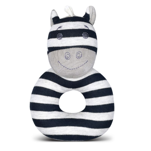 Zebra Organic Ring Rattle