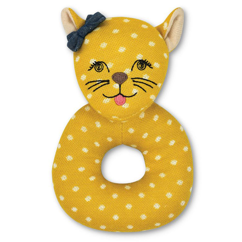 Rita Cheetah Organic Ring Rattle