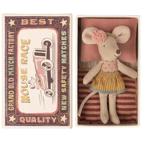 Little Sister Mouse in a Matchbox